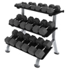 Hampton Fitness - 3-Tier Flat Tray Rack
